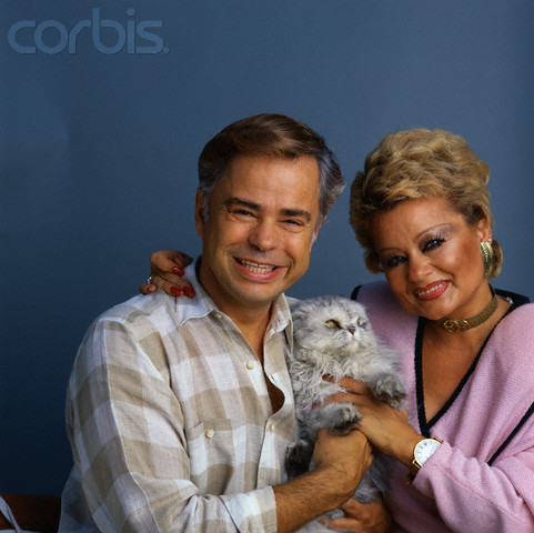 Jim and Tammy Bakker with Their Cat