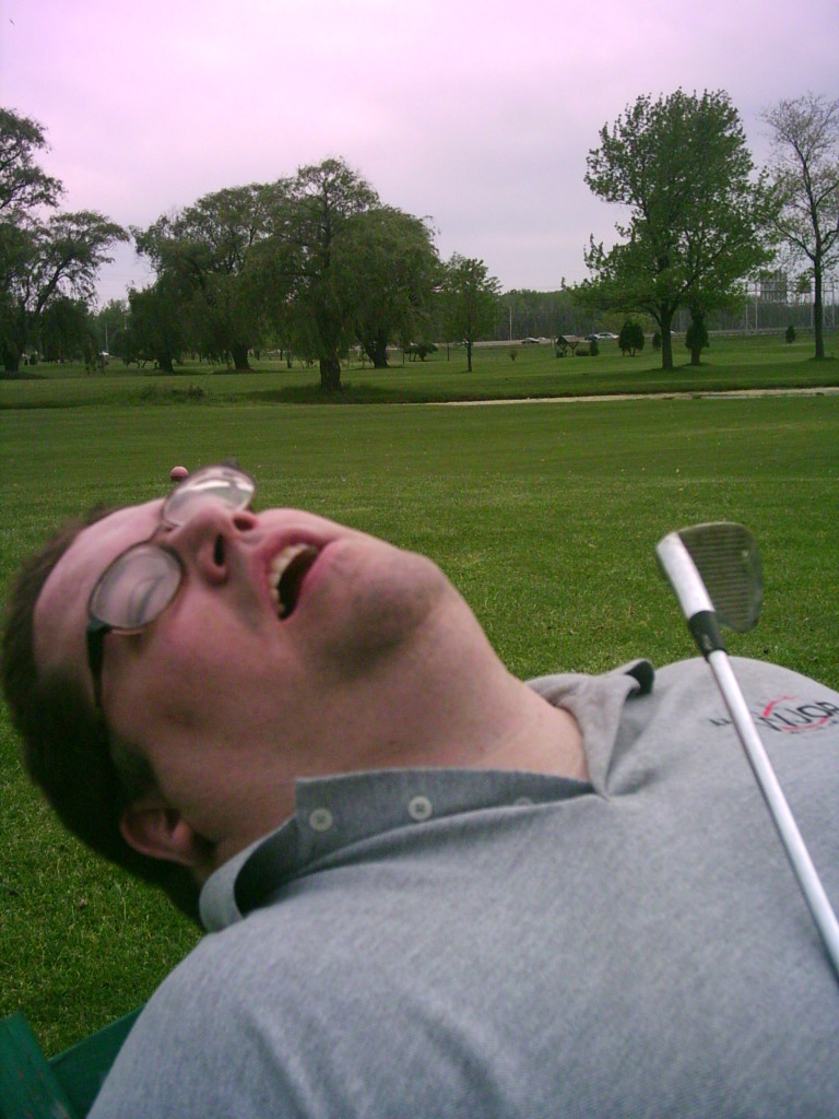 Just catching a few Zs by the fairway.
