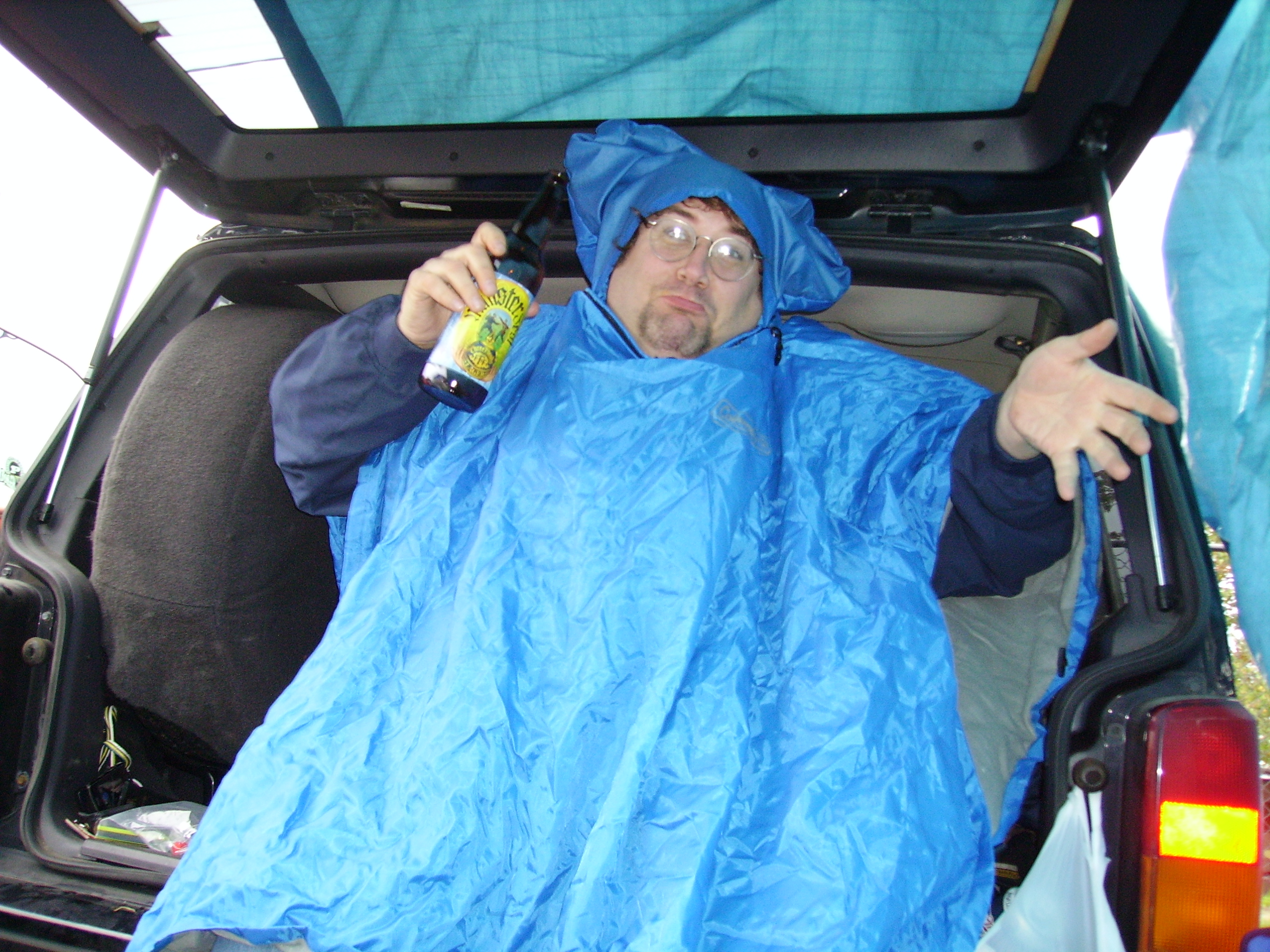Bring on the rain. Tailgating  at Ross-Ade 9-15-2007