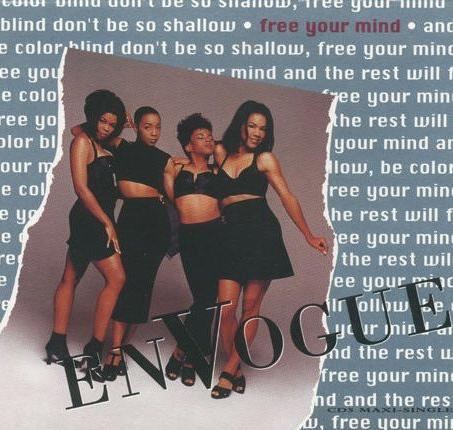 This is the cover art for the single Free Your Mind by the artist En Vogue. The cover art copyright is believed to belong to the label, East West, or the graphic artist(s).